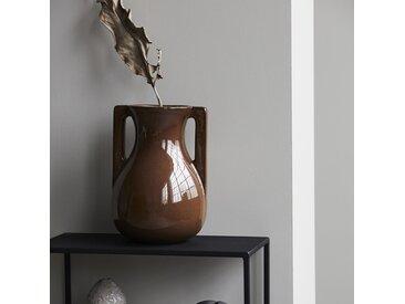 Vase en céramique marron