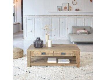 Table basse en bois de teck recyclé CARGO 120