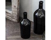 Vase bouteille marron foncé