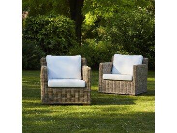 Lot de 2 fauteuils en kubu naturel MUSA