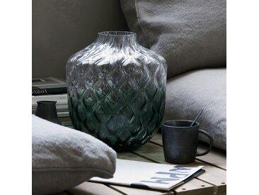 Vase en verre soufflé vert dégradé