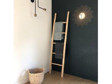 Échelle porte serviette en bois de teck 170