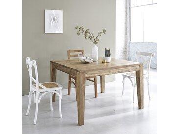 Table extensible en bois de teck recyclé carrée 10 personnes CARGO