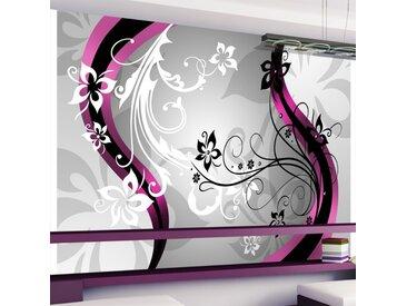 Papier peint - Mosaïque florale