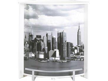 Meuble Comptoir, Meuble Bar, Blanc 96 cm