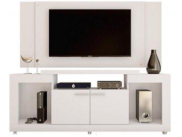 Meuble TV Mural 55 Pouces Blanc