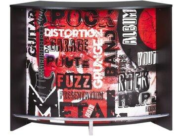 Meuble Bar Comptoir d'Accueil Noir 135 cm