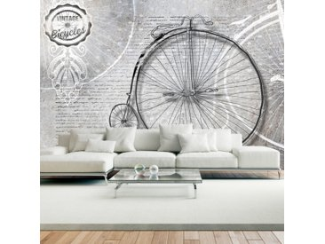 Papier peint - Vintage bicycles - black and white