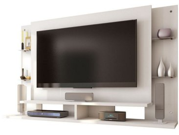 Suppport TV Mural TV 55 Pouces Blanc