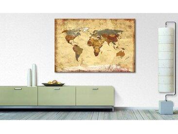Impression sur toile Old Worldmap 4