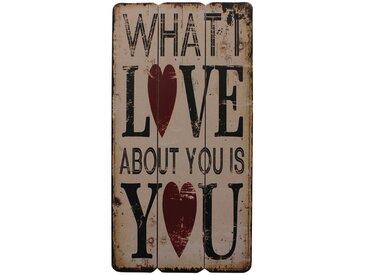 Écriteau Love You