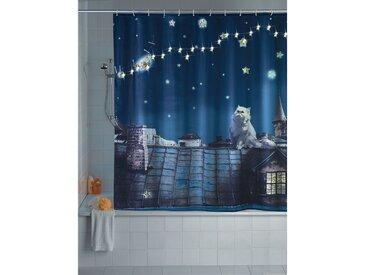 Rideau de douche LED Moon Cat