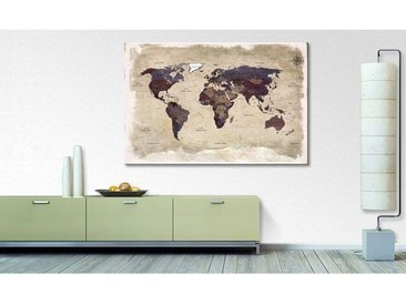 Impression sur toile Old Worldmap 3