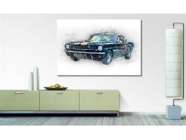 Impression sur toile Black Mustang