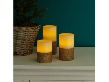 Bougies LED Gilston (lot de 3)