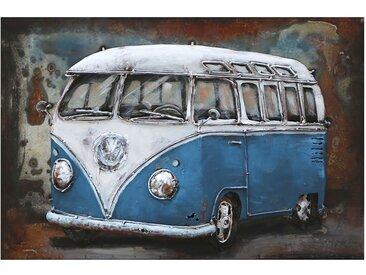 Tableau déco bus bleu