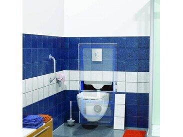 Sanibroyeur SFA Saniwall Pro UP WC fixation dans systèmes de rails à carreler