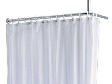 Rideau de douche Keuco Plan Maxxi Blanc 2000 mm 100% polyester