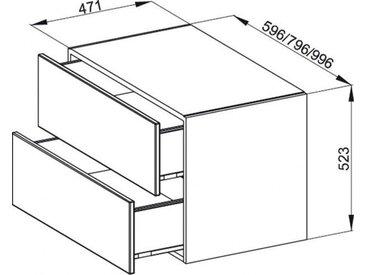 Bette Meuble suspendu latéral Modules 2 tiroirs (RSC2)