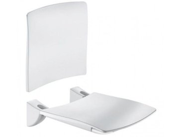 Siège de douche rabattable Delabie Blanc Brillant 506x420x620mm