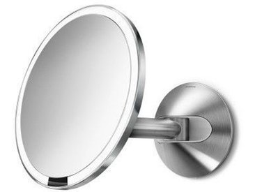 Miroir Grossissant Simplehuman à capteur mural cablé ∅20cm