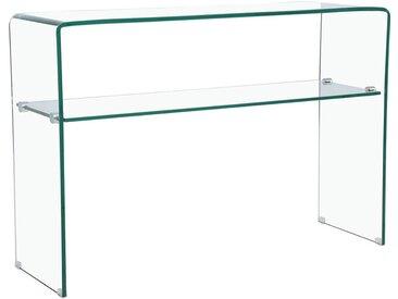 Console 'Genova' - 110 x 35 x 75 cm - Verre courbé transparent
