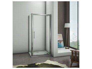 80x80x185cm porte de douche pivotante avec un receveur correspondant à la dimension de la cabine de douche