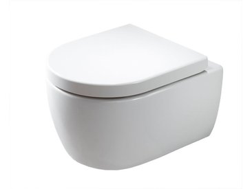 WC suspendu à fond creux sans bride NANO NT2039 - abattant Softclose inclus: Avec standard veilleuse LED