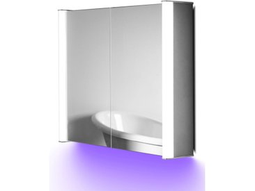 Armoire Audio Très Lumineuse Avec Anti-Buée, Capteur Et Rasoir K400uaud - Couleur LED : Violet