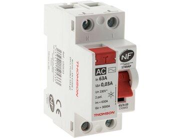 Interrupteur différentiel à vis - 30mA type AC 63A NF - Thomson