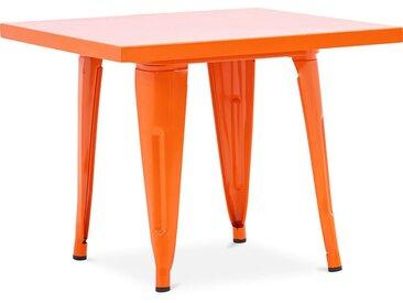 Table pour enfant de style Tolix - 60 cm - Métal Orange