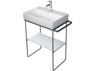 Duravit DuraSquare console en métal 66,5x45,1cm, pour lavabo 235660, porte-serviettes, debout au sol, Coloris: Noir Mat - 0031134600