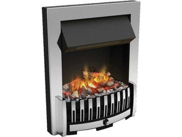 Foyer de cheminée électrique encastrable optimyst effet fumée Danville Chrome - Chrome