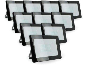 Lot de 10 projecteurs 50W IP65 extérieur | Blanc neutre 4000K