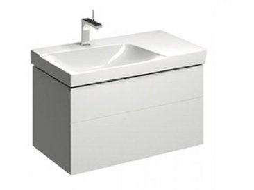 Geberit Geberit Xeno 2 Waschtischunterschrank mit Siphonausschnitt links 500.515., 880x530x462mm, 2 Schubladen, Coloris: Laque brillante blanche - 500.515.01.1