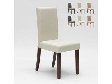 Chaise rembourrée style henriksdal pour cuisine salle à manger COMFORT | Blanc