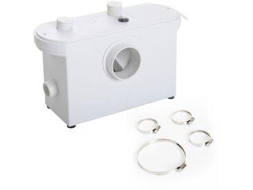 Broyeur sanitaire WC pompe de relevage 600 W silencieux compact 4 colliers serrage + 4 embouts blanc