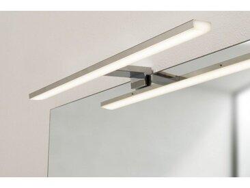 Spot de salle de bains avec éclairage LED - Chrome - 5,2 cm x 50 cm (HxL)