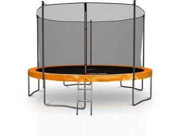Trampoline extérieur 12FT 5 Perches 366cm Classique Orange - Jump4fun