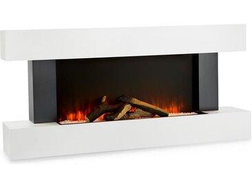 Klarstein Studio Light & Fire 1 Cheminée électrique 1000W / 2000 W MDF - blanche