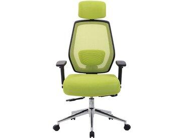 Chaise pivotante de bureau Ergo-Task - ergonomique, avec appuie-tête, vert