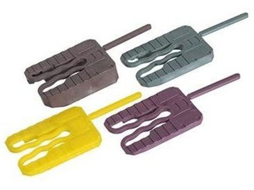 Cale fourchette - Vendu par 1000 - Dimension : 40 x 30 - Epaisseur : 4 - Teinte : Jaune - Quantité : 1000 -HQpro
