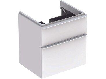 Geberit Meuble sous-lavabo Geberit Smyle Square, 500.352., 584x617x470mm, avec 2 tiroirs, Coloris: Laque brillante blanche - 500.352.00.1