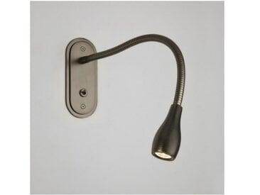 Applique liseuse flexible encastrable LED Lindos - Interrupteur - Bronze - Bronze