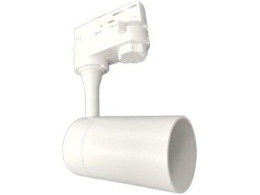Spot LED sur rail 80° Triphasé BLANC pour ampoule GU10
