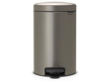 poubelle à pédale 12l platinum - 113628 - brabantia