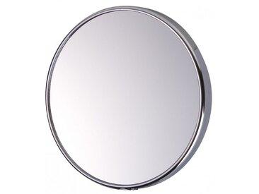Miroir Grossissant à ventouse (X5) - Chrome - Diamètre: 15 cm
