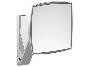 Keuco iLook_move Miroir grossissant, 17613, illuminé, 1 couleur claire, surface miroir : 200 x 200 mm, chromé - 17613019003