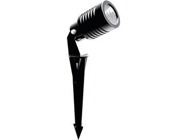 Spot piquet extérieur LED COB 11W NOIR | blanc-chaud-3500k