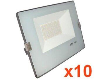 Projecteur LED Extérieur 50W IP65 - BLEU GRIS (Pack de 10) - Blanc Froid 6000K - 8000K